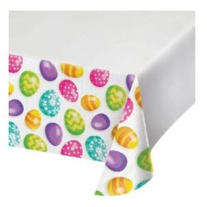 "Easter Eggs Plastic Tablecover 54"" x 102"""