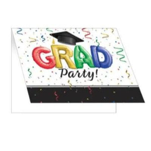 Grad Multicolor Party Invitations - 25 Pack