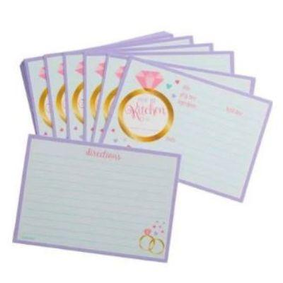 Bride To Be Recipe Cards - 24 Pack