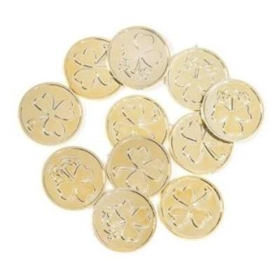 Gold Shamrock Coin - 50 Pack