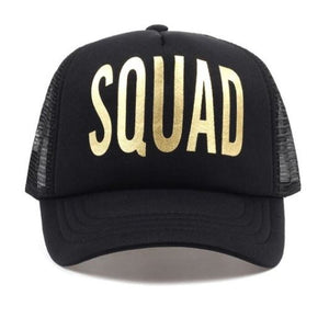 "Hat Bride ""Squad"" Black and Gold"