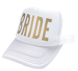 "Hat Bride ""Squad"" White and Gold"