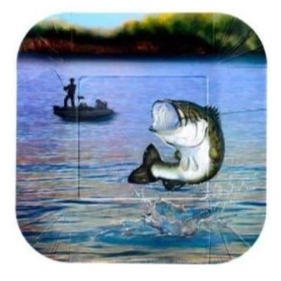 Gone Fishing Dessert Plates - 8 Pack