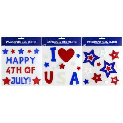 Patriotic Gel Clings - Assorted