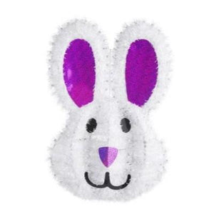 Tinsel Bunny Face Hanging Decoration 18""