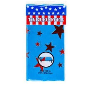 Patriotic Plastic Tablecover - Assorted