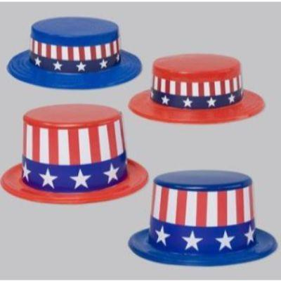 Patriotic Glitter Top Hat