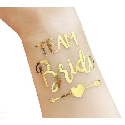Team Bride Gold Arrow Tattoo