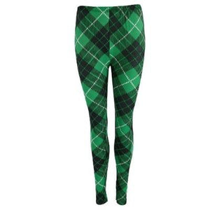 Plaid Off Leggings