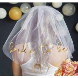 Veil With Gold Bride To Be