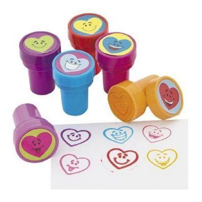 Valentine's Day Heart Smile Stamper Assorted - 6 Pack