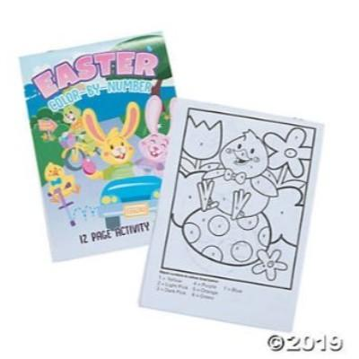 Easter Color By Number Activity Books - 6 Pack