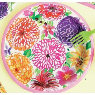 Floral Painted Dinner Plates 9