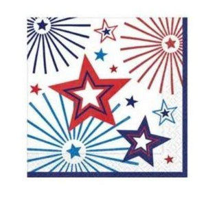 Happy Fourth Beverage Napkin - 36 Pack