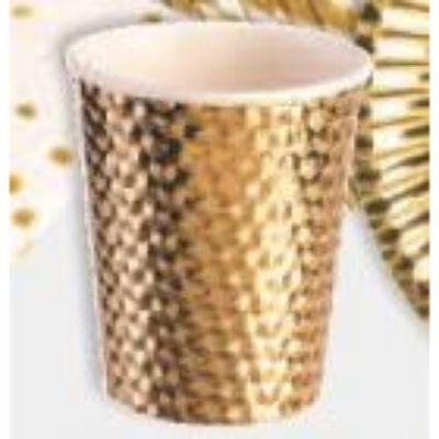 Gold Paper Cup 8 oz. - 8 Pack