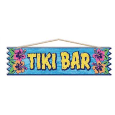 Luau Tiki Bar Party Sign