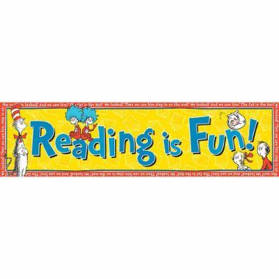 Dr. Seuss Banner - Reading Is Fun!