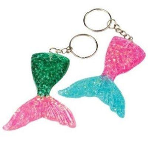 Mermaid Tail Keychains - 8 Pack