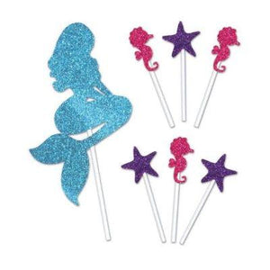 Mermaid Cake Topper - 6 Pack