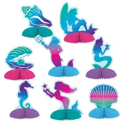 Mermaid Centerpiece - 8 Pack