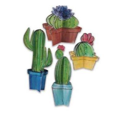 3D Cactus Centerpiece - 4 Pack