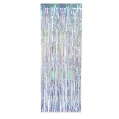 Iridescent Fringe Curtain 3' x 8'
