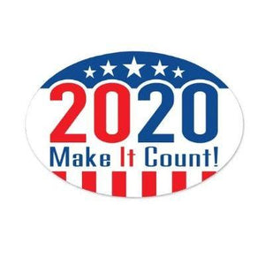 2020 Make It Count Cling 6""