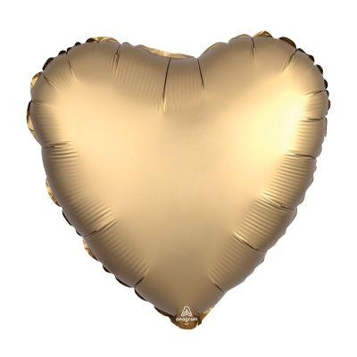 Satin Gold Heart Mylar Balloon 17