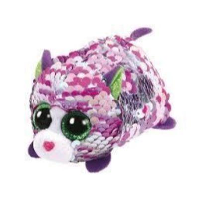 Teeny Ty Sequin Cat Lilac