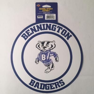 Bennington Badgers Circle Cutout 14