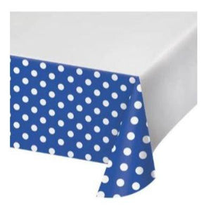 "Blue Dots & Stripes Tablecover 48"" x 88"""
