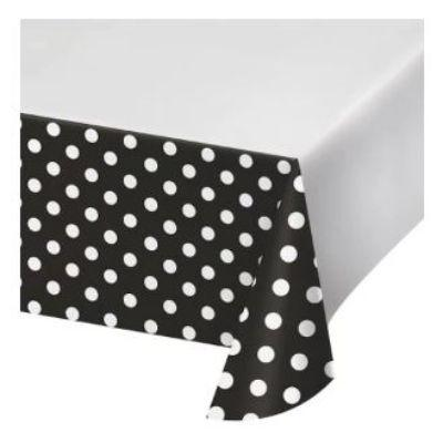 Black Dots & Stripes Tablecover 48