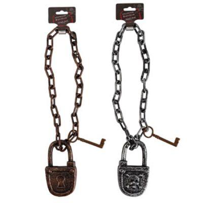Lock & Chain With Key Hanging Decoration - Assorted