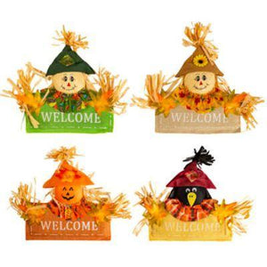 "Scarecrow Welcome Sign 12"" - Assorted"