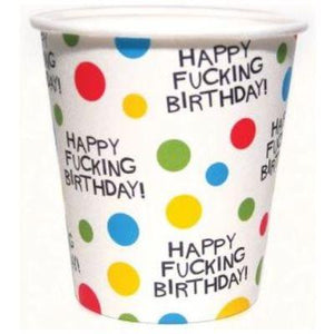 X-Rated Birthday Paper Cups - 8 Pack
