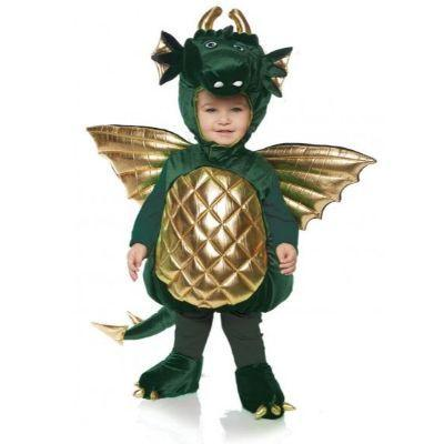 Green Dragon Belly Baby Costume