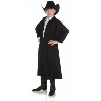 Black Wild West Duster Coat Child
