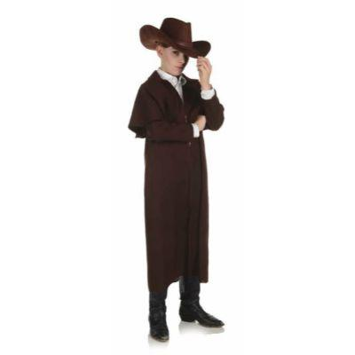 Brown Wild West Duster Coat Child
