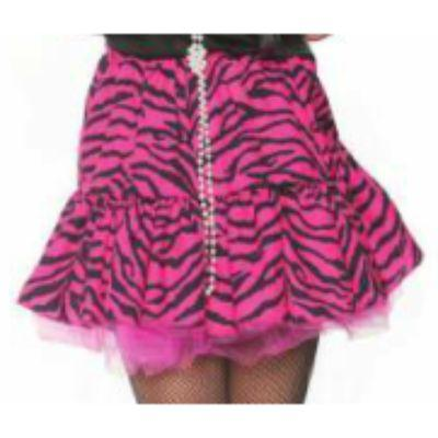 80s Zebra Pink Skirt Child