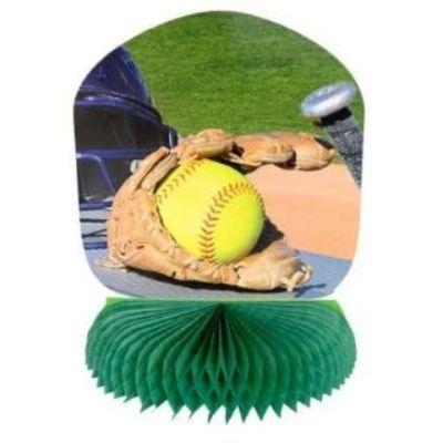 Softball Honeycomb Centerpiece