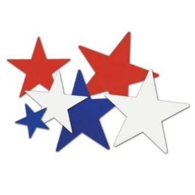 Patriotic Star Cutout - 8 Pack