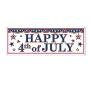 "Happy 4th Of July Banner 21"" x 5'"