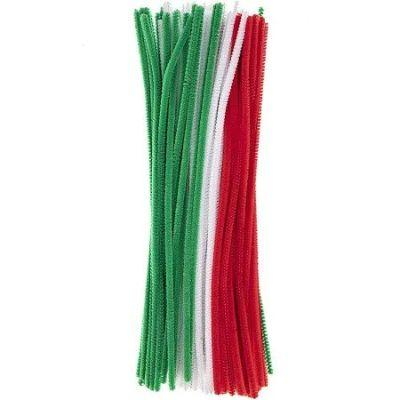 Christmas Colors Chenille Stems - 100 Pack