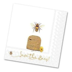The Bees Luncheon Napkins - 20 Pack