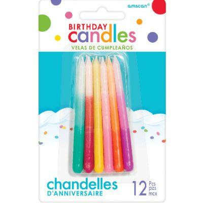 Ombre Birthday Candles - 12 Pack