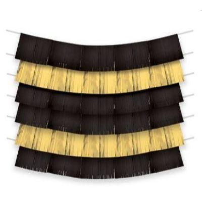 Black & Gold Fringe Backdrop