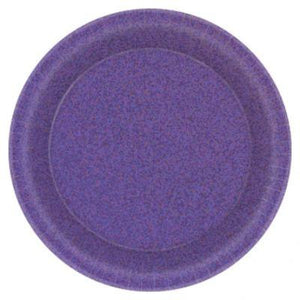 "Prismatic Purple Dessert Plates 7"" - 8 Pack"