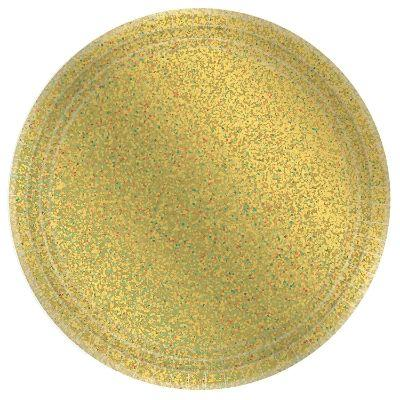 Prismatic Gold Paper Dinner Plates 9