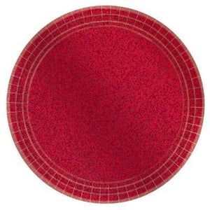 "Prismatic Red Dessert Plates 7"" - 8 Pack"