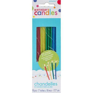 Thin Sparkling Candles - 18 Pack